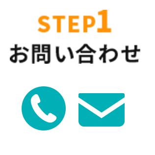 STEP1:お問い合わせ